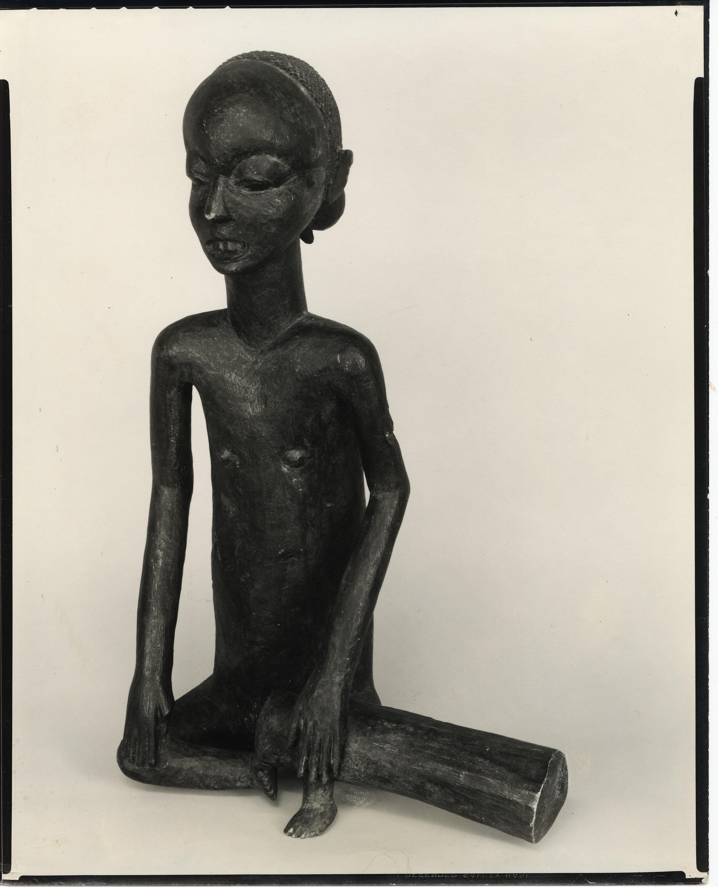 Walker Evans, Figure avec tambour, Congo Belge, 1935,tirage argentique d'époque,25,3 x 20,1 cm ©DR